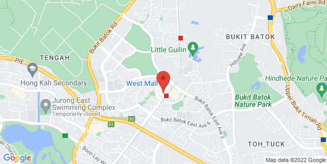 Map showing Bukit Batok Public Library