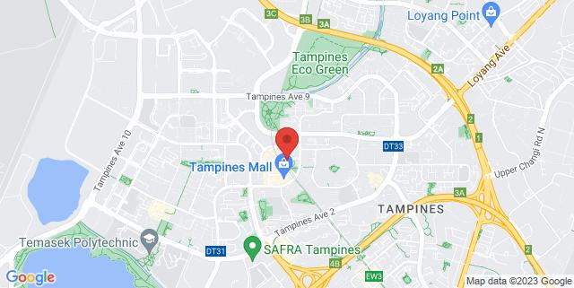 Map showing Tampines 1