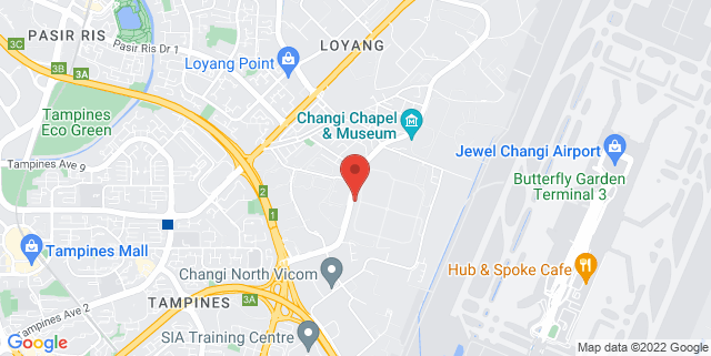 Map showing Changi Prison Complex