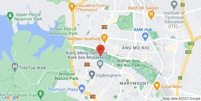 Map showing Grub Burger Bistro