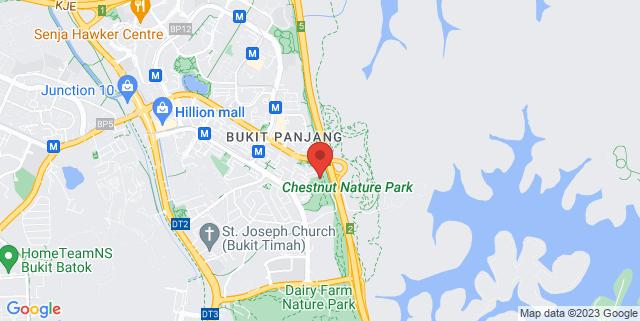 Map showing Urban Farm and Barn