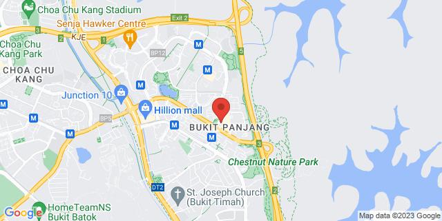 Map showing Bukit Panjang Hawker Centre and Market