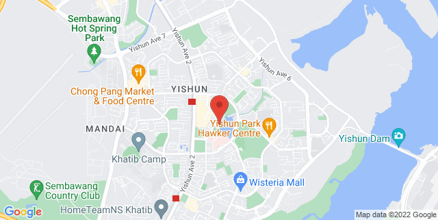 Map showing Tzu Chi Humanistic Youth Centre