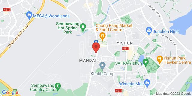 Map showing Precious Gems Enrichment Centre