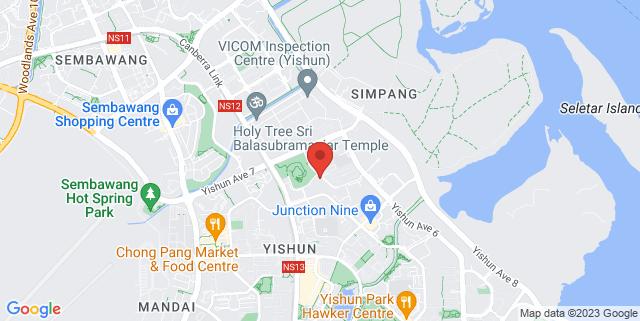 Map showing Nee Soon East Courtyard