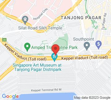 Map showing Tanjong Pagar Rail Station
