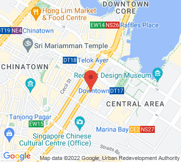 Map showing The Bank Bar + Bistro