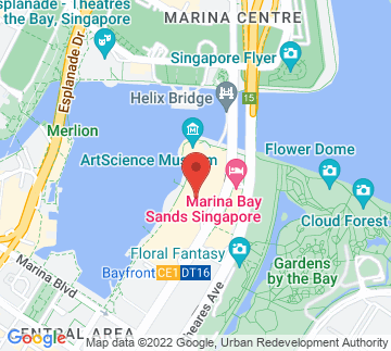 Map showing Marina Bay Sands - The Event Plaza
