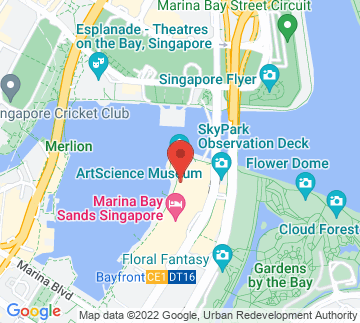 Map showing Marina Bay Sands - Grand Theatre