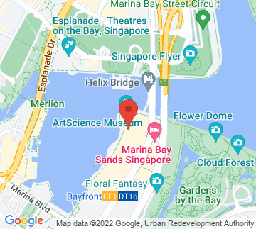 Map showing Marina Bay Sands - Sands Theatre