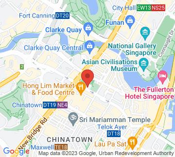 Map showing Telok Ayer Green CC / 直落亚逸民众联络所