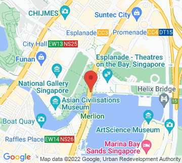 Map showing Merlion Park