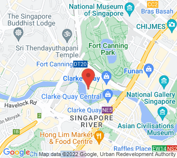 Map showing Clarke Quay