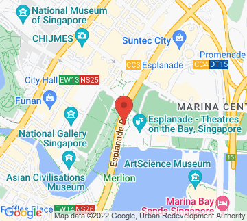 Map showing Esplanade - The Edge