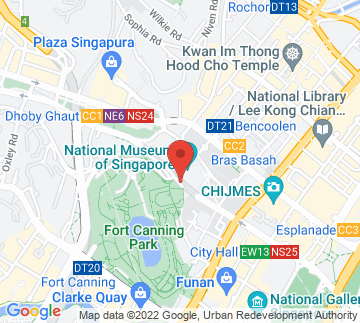 Map showing National Museum Of Singapore