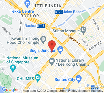 Map showing Singapore Dance Theatre