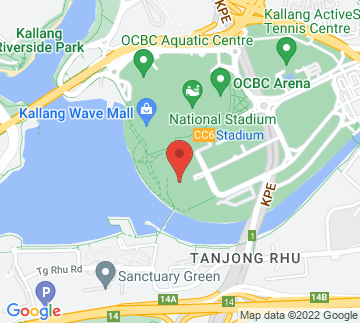 Map showing Singapore Sports Hub