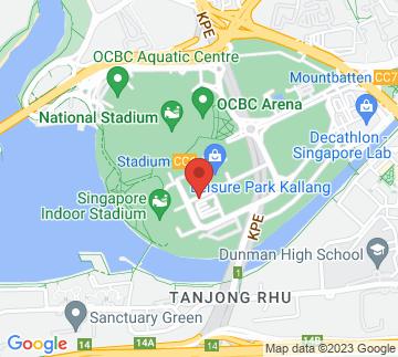 Map showing Kallang Wave Mall