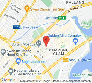 Map showing Malay Heritage Centre