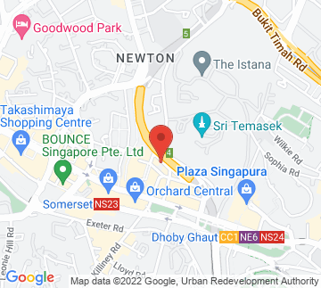 Map showing Holiday Inn Singapore Orchard Centre