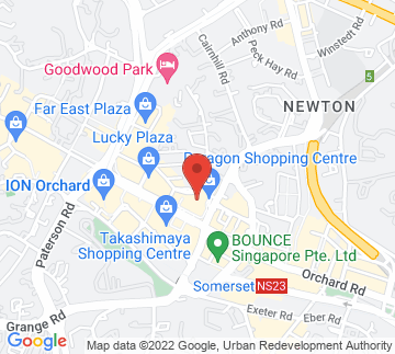Map showing Paragon Shopping Centre