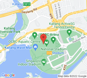 Map showing National Stadium