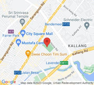 Map showing Jalan Besar Stadium