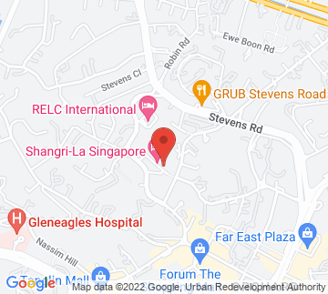 Map showing Shangri-La Hotel