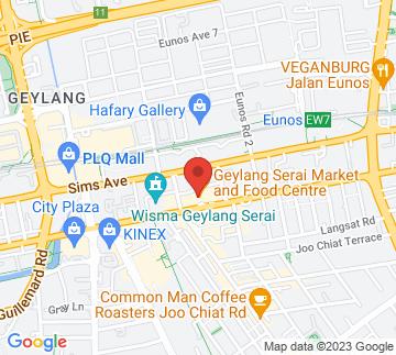 Map showing Geylang Serai New Market