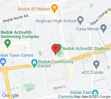 Map showing Bedok Stadium