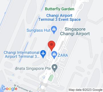 Map showing Changi Airport