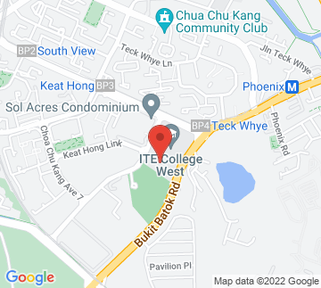 Map showing ITE College West