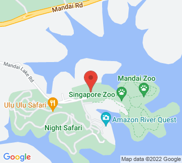 Map showing Singapore Zoo