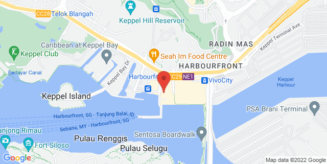 Map showing HarbourFront Centre