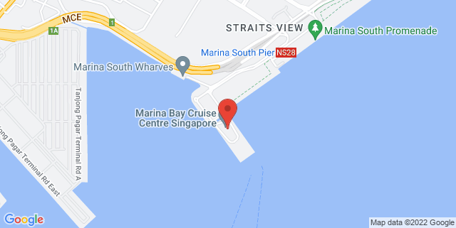 Map showing Mariner of The Seas