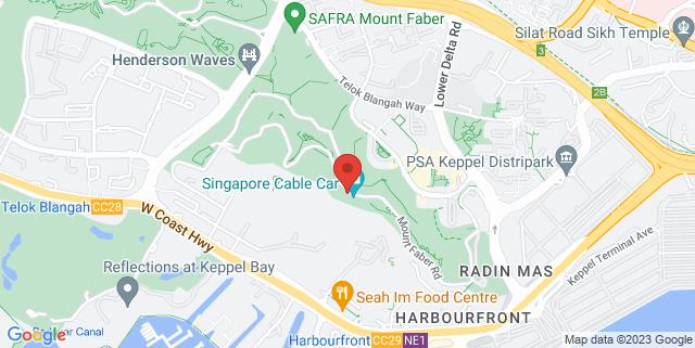 Map showing Faber Peak Singapore