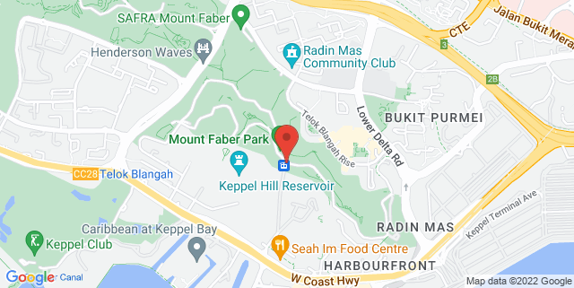 Map showing Dusk Restaurant & Bar
