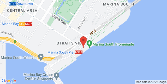 Map showing Marina South Pier