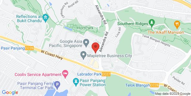 Map showing Singapore Raffles Music College