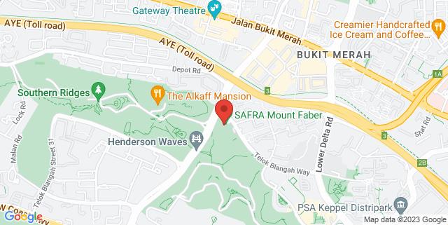 Map showing SAFRA Mount Faber