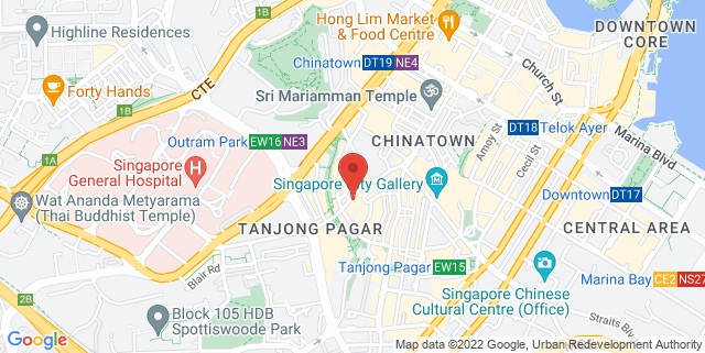 Map showing Singapore Institute Of Architects