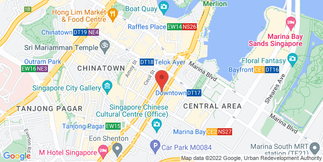 Map showing SGX Center