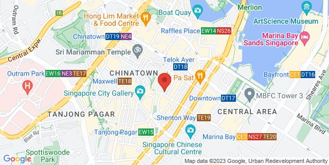 Map showing Park Bench Deli
