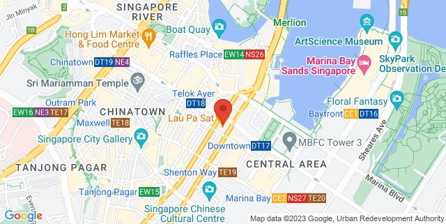 Map showing Lau Pa Sat