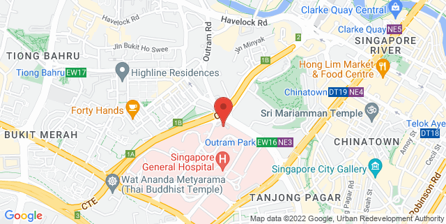 Map showing EduSports - UTown