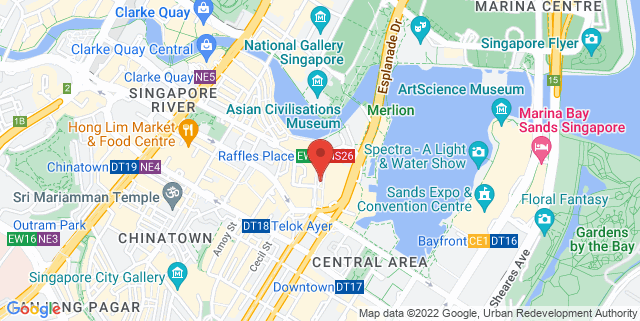 Map showing Far East Square Glass Pavilion