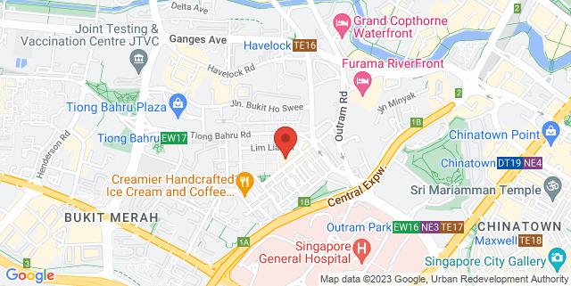 Map showing Tiong Bahru Market