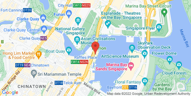 Map showing Bayside Drinks & Eats