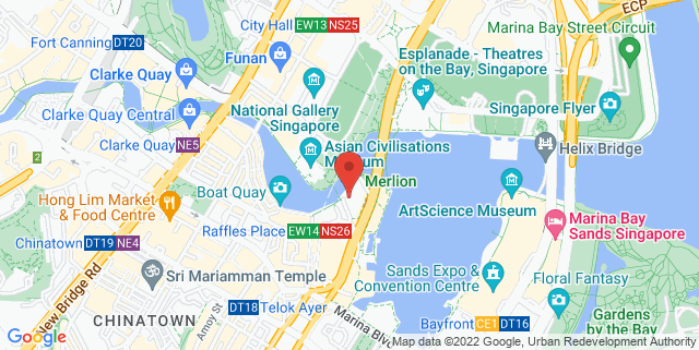 Map showing Post Bar @ Fullerton Hotel