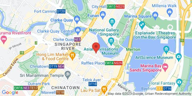 Map showing UOB Kay Hian Raffles Place Investor Centre